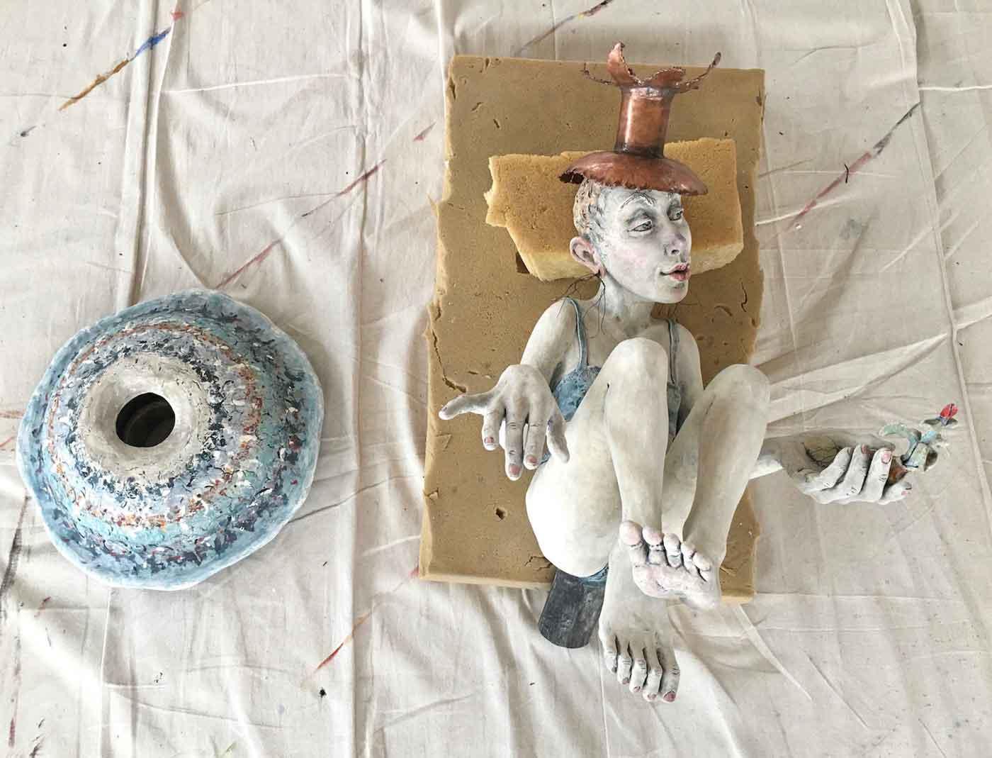 Porcelain sculpture by Gretel Boose