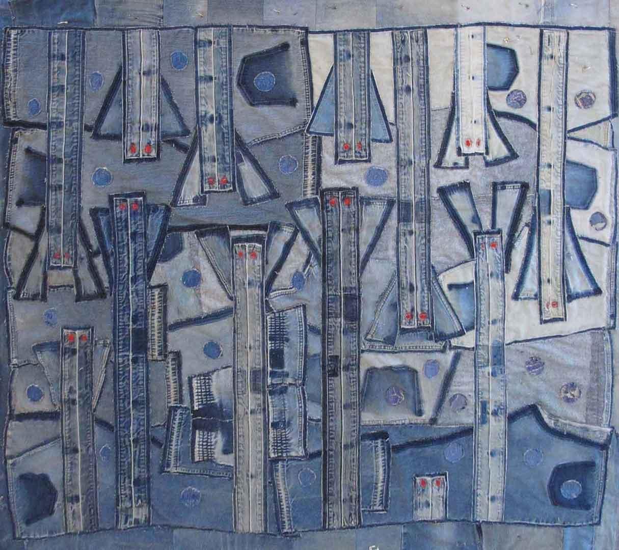 Denim artwork by Judith Tinkl