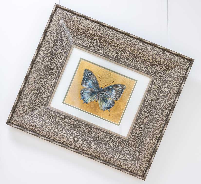 Blue King No II Butterfly drawing by Grazyna Tonkiel