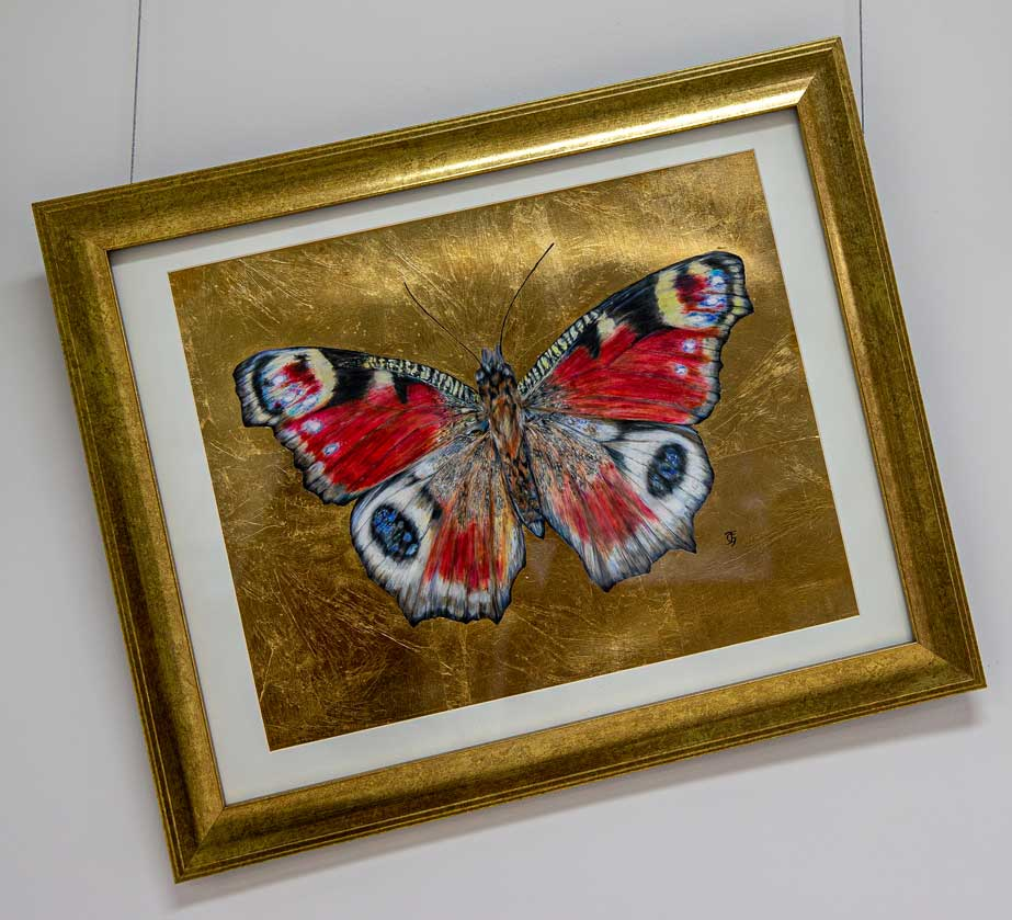 Memory of Chopin Butterfly drawing by Grazyna Tonkiel