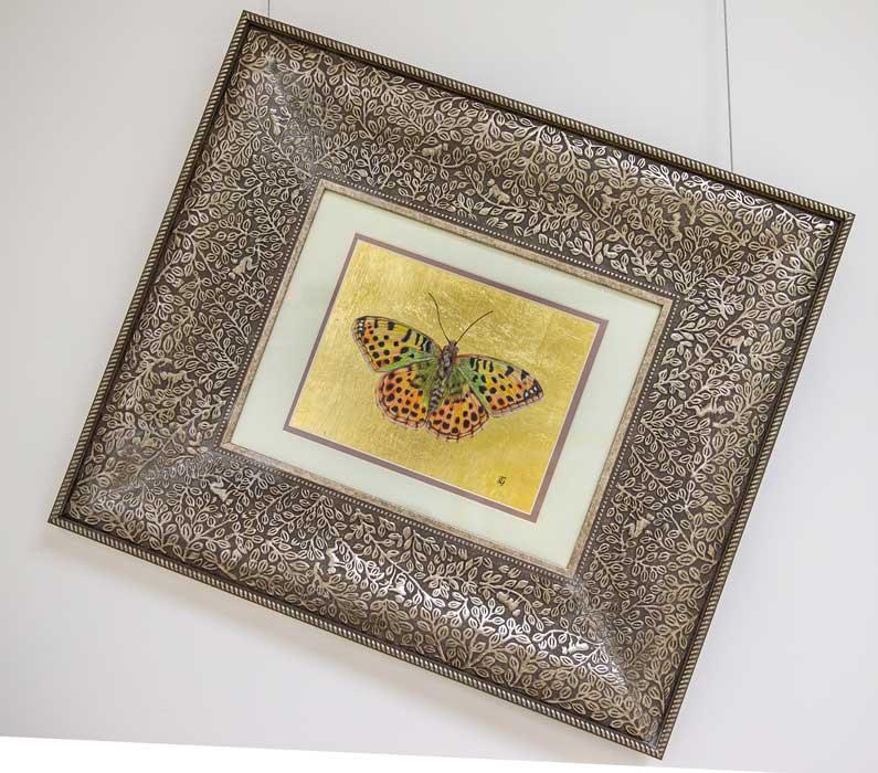 Mira (Fritillary) Butterfly drawing by Grazyna Tonkiel