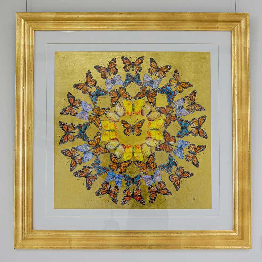 Big Mandala Butterfly drawing by Grazyna Tonkiel