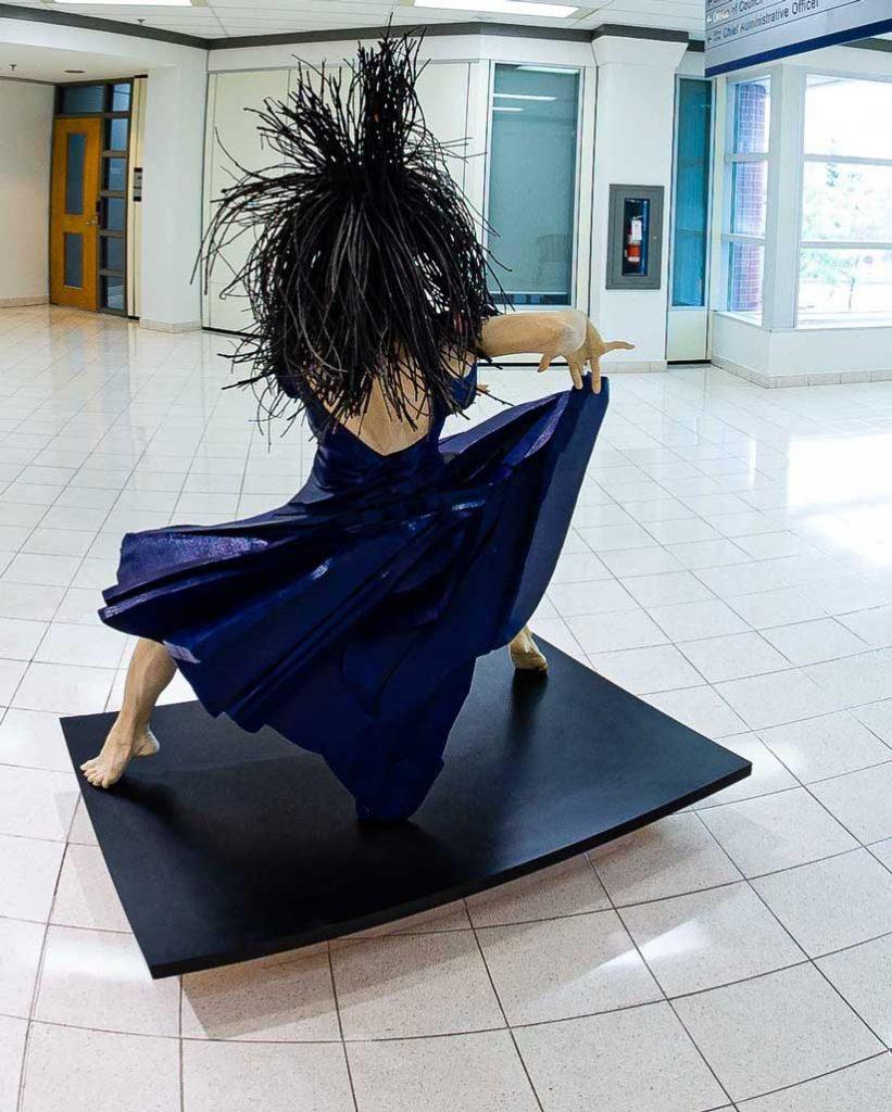 The Blue Dancer sculpture by Gordon Becker
