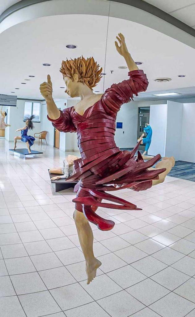 The Red Dancer Sculpture by Gordon Becker