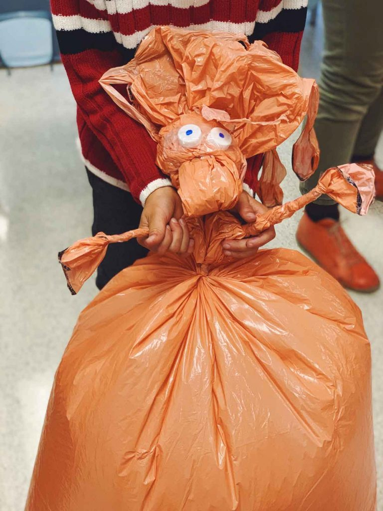Student made puppet