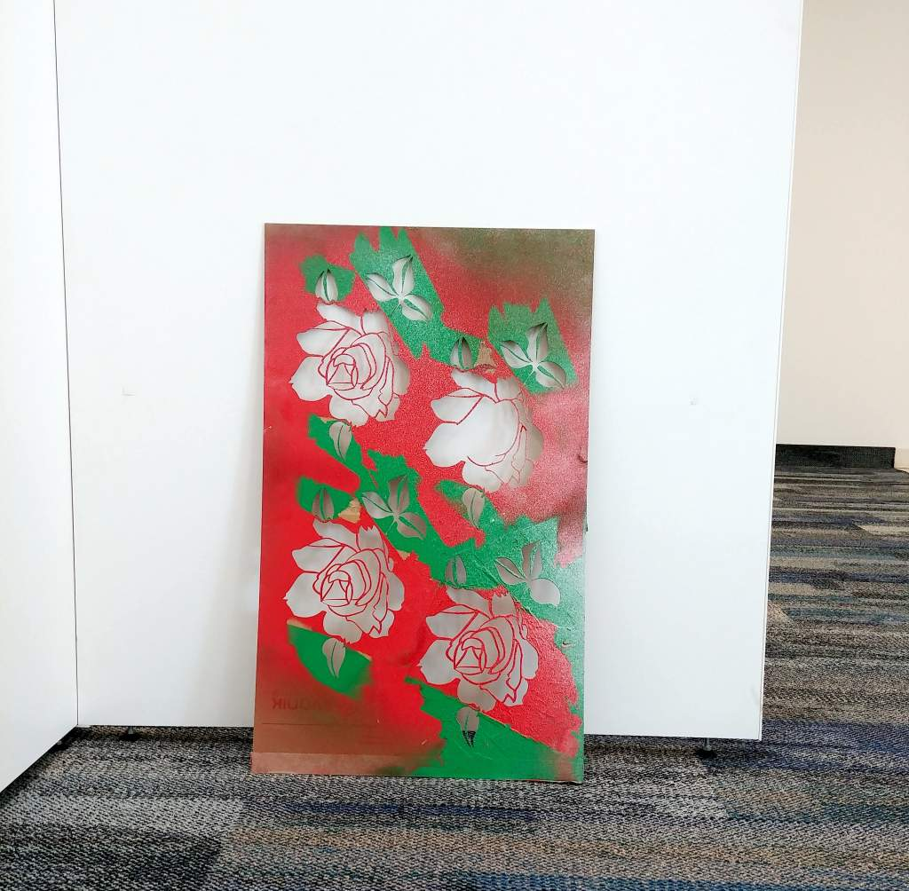 Roses Stencil Sangmin Lee