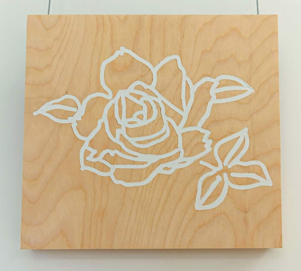 Single Rose in Drywall Sangmin Lee