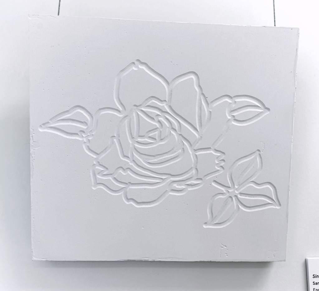 Single Rose in Drywall (Inverted) Sangmin Lee
